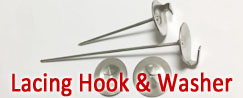 Stainless Steel Lacing Anchors & Washer